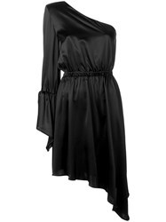 Federica Tosi One Shoulder Cocktail Dress Black