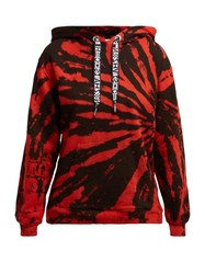Proenza Schouler Pswl Tie Dye Cotton Hooded Sweatshirt Red Multi