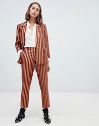 Maison Scotch Shiny Striped Suit Trousers Combo S Multi