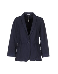Manila Grace Suits And Jackets Blazers Women Dark Blue