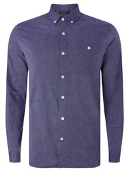 John Lewis And Co. Square Weave Laundered Cotton Shirt Cobalt Blue
