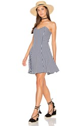 Lucca Couture Fitted Strapless Dress Black And White