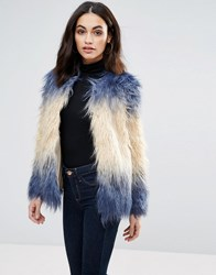 Jovonna My Jam Faux Fur Jacket Ombre Multi