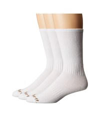 Carhartt Work Wear Flat Knit Crew Socks 3 Pack White Men's Crew Cut Socks Shoes
