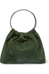 Little Liffner Ring Small Suede Tote Green