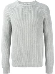 Carven Ribbed Knit Sweater Grey