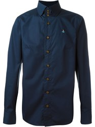 Vivienne Westwood Man High Collar Shirt Blue
