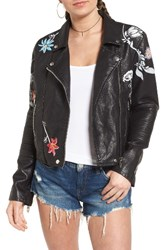 Blank Nyc Women's Blanknyc Painted Faux Leather Moto Jacket