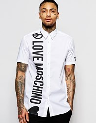 Love Moschino Smart Shirt With Short Sleeves White