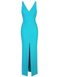 Likely Plunging Neckline Gown Blue