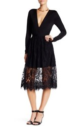 Lovers Friends Camilla Lace Skirt Black