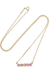 Jennifer Meyer 18 Karat Gold Sapphire Necklace Gold Pink