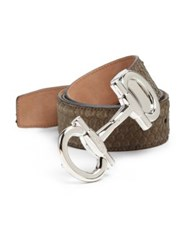 Salvatore Ferragamo Python Lined Leather Belt