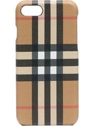 Burberry Checked Iphone 8 Case Nude And Neutrals