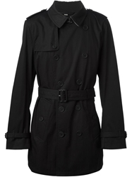 Burberry Brit Short Trench Coat Black