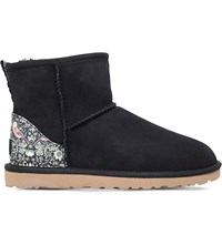 Ugg Classic Mini Liberty Sheepskin Ankle Boots Blk Other