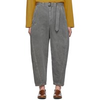 Christophe Lemaire Grey Twisted Chino Trousers