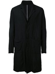 Kazuyuki Kumagai Single Breasted Coat Men Cotton Linen Flax 3 Black