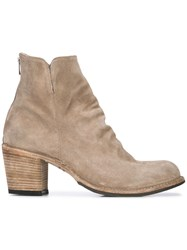 Officine Creative Block Heel Ankle Boots Nude And Neutrals