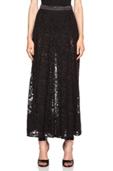 Givenchy Pleated Cotton Blend Lace Skort In Black Floral