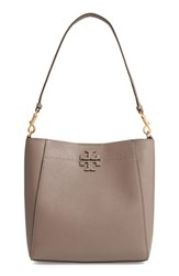 Tory Burch Mcgraw Leather Hobo Grey Silver Maple