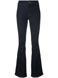 Givenchy Fitted Bootcut Jeans Blue
