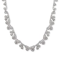 Jenny Packham Crystal Bow Tie Collar Necklace Silver