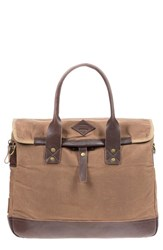 Will Leather Goods Men's 'Zig Zag Lookout' Briefcase Brown Field Tan