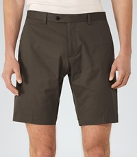 Reiss Statten S Mens Tailored Shorts In Brown