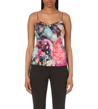Ted Baker Sacet Focus Bouquet Crepe Camisole Dark Blue