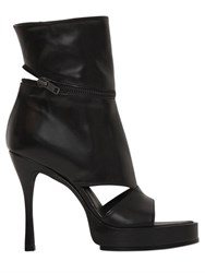 Ann Demeulemeester 130Mm Leather Open Toe Cropped Boots
