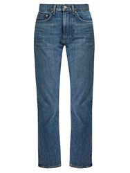 Brock Collection Wright Straight Leg Jeans Dark Denim