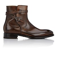Harris Men's Burnished Jodhpur Boots Dark Brown
