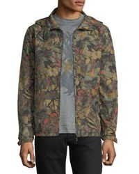 Valentino Butterfly Camouflage Rain Jacket Olive