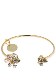 Anton Heunis Small Crystal Cuff Bracelet Gold