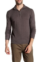 Qi Partial Zip Pullover Brown