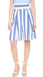 Milly Graphic Stripe Crop Culottes Blue
