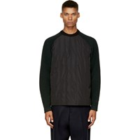 Juun.J Black And Forest Green Insulated Pullover