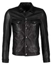 Nudie Jeans Perry Leather Jacket Black