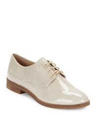 Karl Lagerfeld Iva Patent Leather Oxfords Taupe