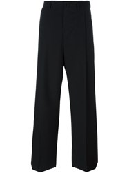 Lanvin Tailored Wide Leg Trousers Black