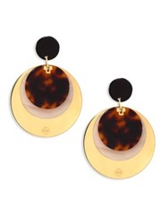 Tory Burch Layered Disc Earrings Goldtone