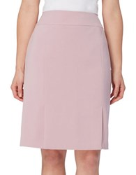 Tahari By Arthur S. Levine Plus Solid Ponte Pencil Skirt