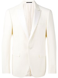 Pal Zileri Smocking Blazer Men Silk Cupro 50 White