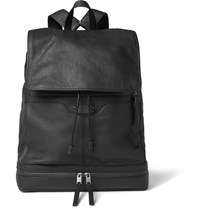 Balenciaga Textured Leather Backpack Black