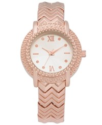 Charter Club Women's Rose Gold Tone Bracelet Watch 34Mm Created For Macy's