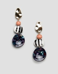 Glamorous Abstract Drop Earrings Multi