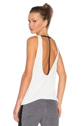Solow Brushed T Strap Tank White