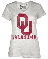 Royce Apparel Inc Women's Short Sleeve Oklahoma Sooners T Shirt White