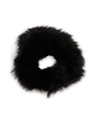 Adrienne Landau Elasticized Fox Fur Headband Black